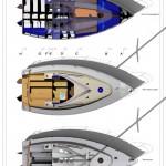 Plans de pont et d'emménagement bateau